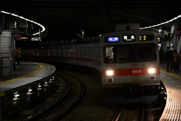 2013年1月17日 東急東横線 白楽 9000系9010F