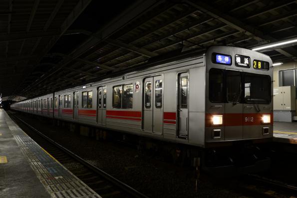 2013年1月17日 東急東横線 綱島 9000系9012F