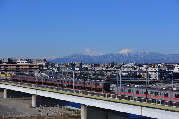 2013年1月18日 東急東横線 多摩川~新丸子 9000系9010F・9014F