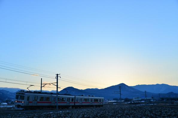 2013年2月23日 上田電鉄別所線 中塩田~下之郷 1000系1004F