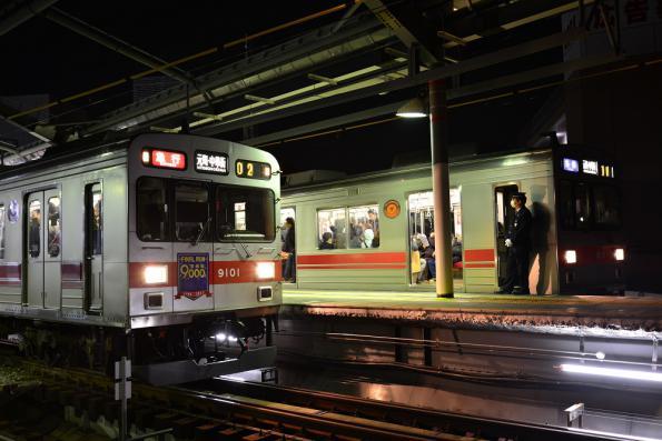 2013年3月6日 東急東横線 自由が丘 9000系9001F・9012F