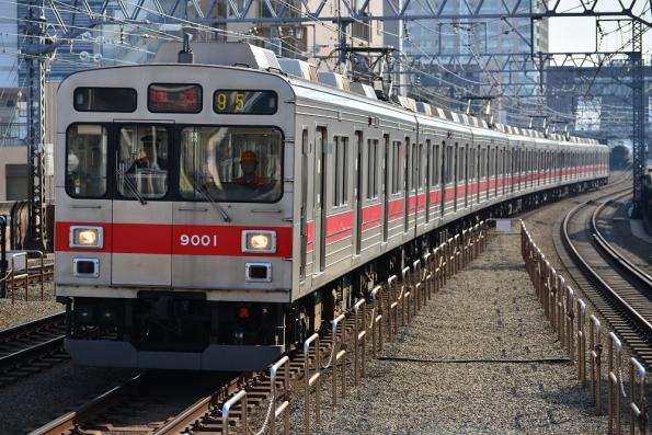 2013年3月15日 東急目黒線 新丸子 9000系9001F