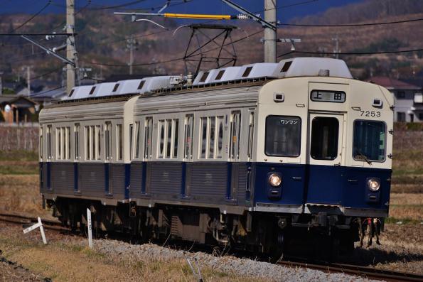 2013年3月21日 上田電鉄別所線 中塩田~下之郷 7200系7253F