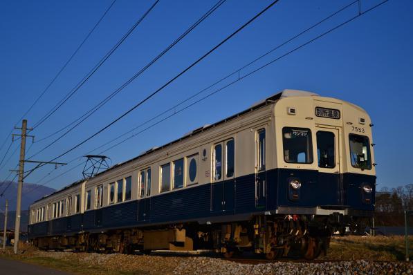 2013年3月21日 上田電鉄別所線 八木沢~別所温泉 7200系7253F