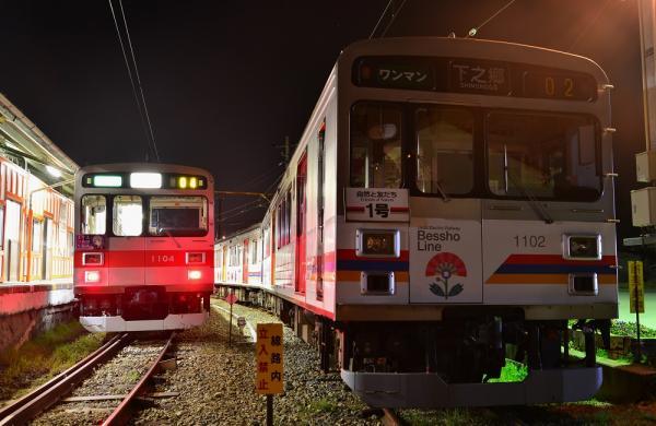2013年4月17日 上田電鉄別所線 下之郷 1000系1004F・1002F