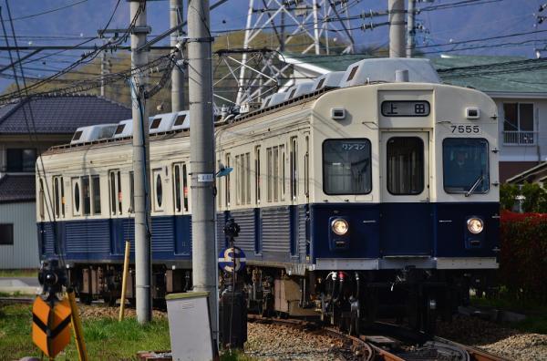 2013年4月29日 上田電鉄別所線 下之郷 7200系7255F