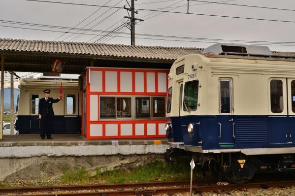 2013年4月30日 上田電鉄別所線 下之郷 7200系7253F・7255F