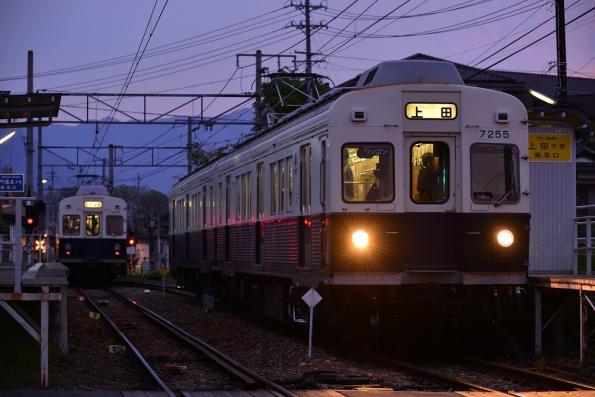 2013年4月30日 上田電鉄別所線 城下 7200系7253F・7255F