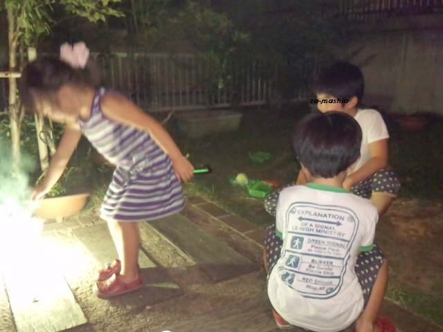 2013-8-17 ゆうなと花火2