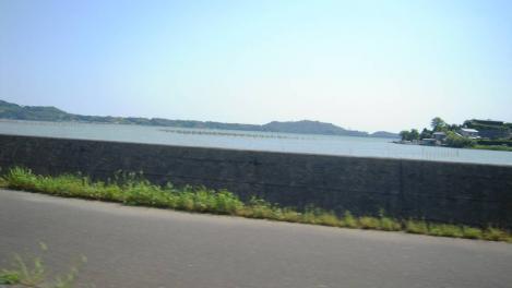 浜松市北区から浜松市外へ行く浜名湖のデジカメ写真