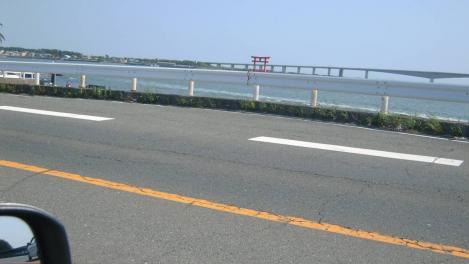 浜名湖の弁天島の鳥居をデジカメショットしたぜ