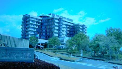 37歳で医者になった僕~の大学病院である東央医科大学病院のドラマ画像をデジカメで撮影