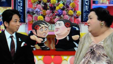 NHK番組のマツコ&有吉怒り新党で二人で納得するデジカメで撮った写真なのだ
