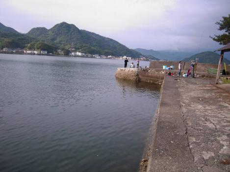 夏日に海釣りのポイント場である沼津市多比の堤防釣り現場をデジショット