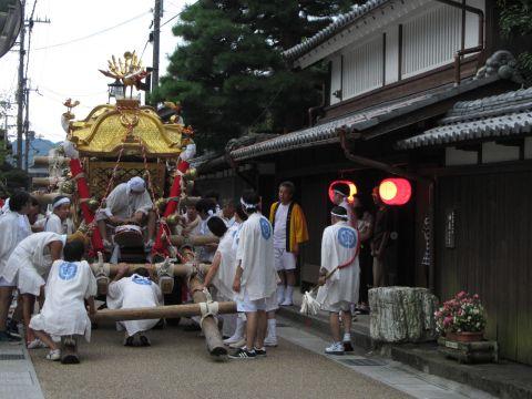 白川祇園祭・神輿宮入り