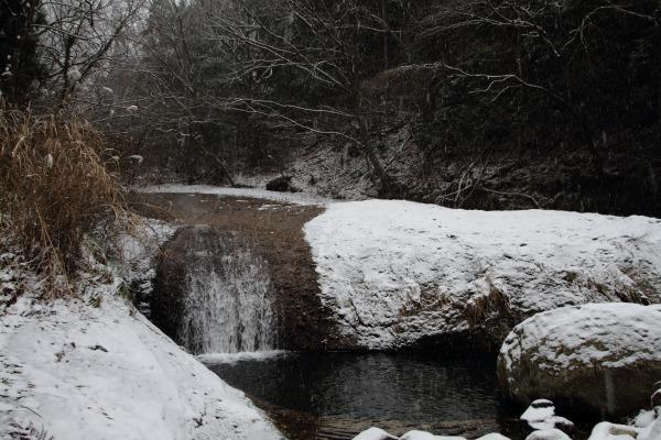 滑川渓谷・降雪 140206 08