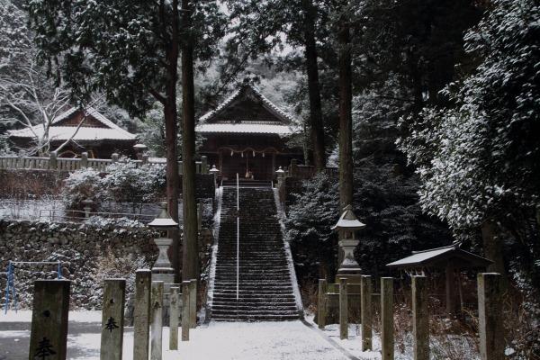 惣河内神社・降雪 140206 01