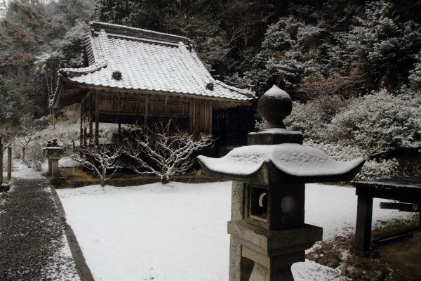 惣河内神社・降雪 140206 02
