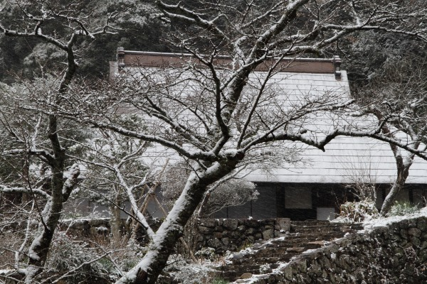惣河内神社一畳庵・降雪 140206 06