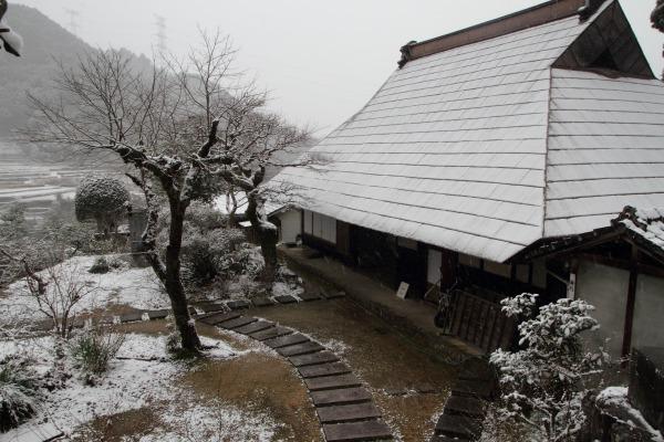 惣河内神社一畳庵・降雪 140206 04