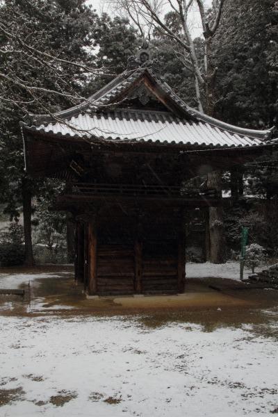 金毘羅寺・降雪 140206 02