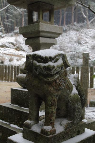 土谷三島神社・降雪 140206 02