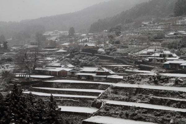 河之内日浦・降雪 140206 01