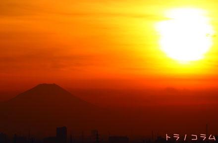 夕日&富士山