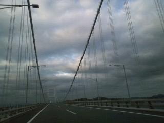 石鎚 6:05瀬戸大橋