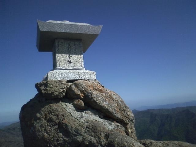 石鎚 15:28天狗岳頂上