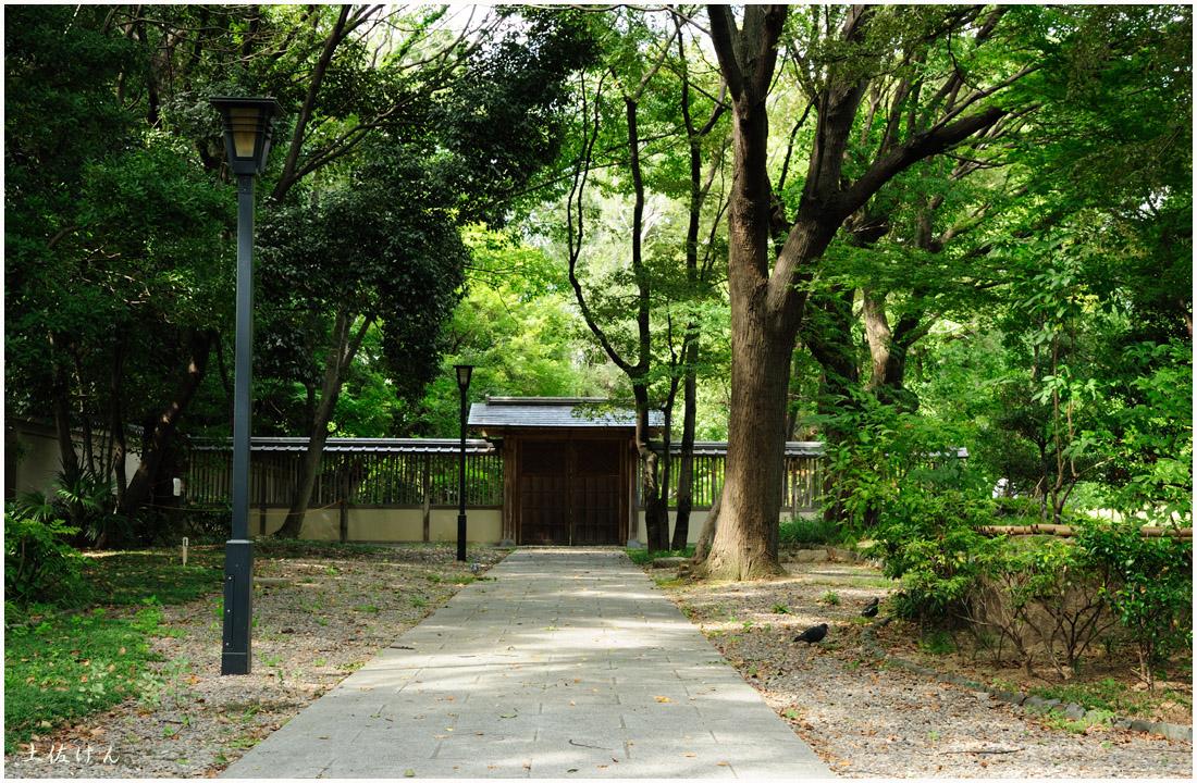 藤田邸跡公園から大阪城公園1