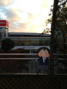 所沢駅にて