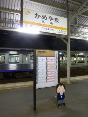 亀山駅と唯パネル