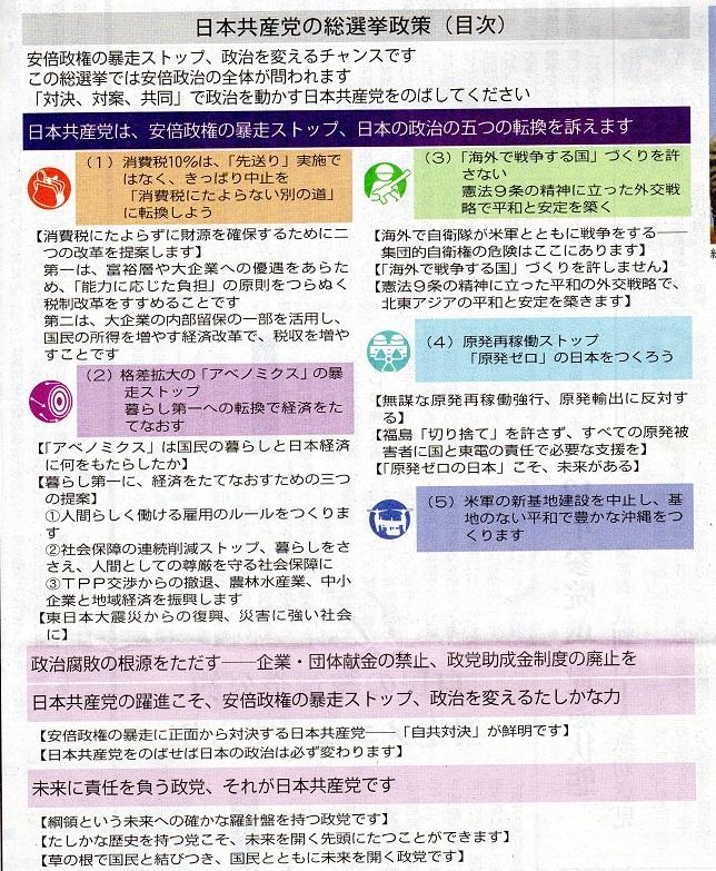 30 2014年 総選挙政策 目次