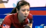 【卓球】 劉詩文VSアリエル・シン 女子ワールドカップ2012