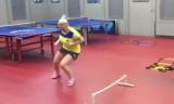 女子専用・卓球サーキットトレーニング1