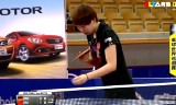 朱雨玲VSハンイン(準決勝)スウェーデンオープン2014