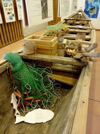 サバニ積載漁具