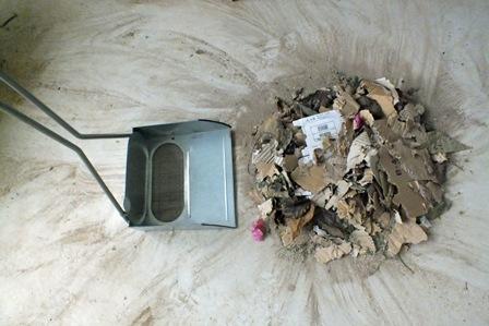 砂混じりゴミとちりとり