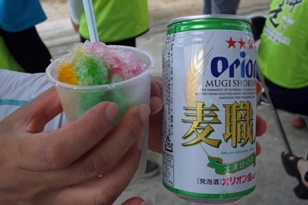 かき氷とビール