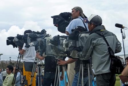 TVカメラの砲列