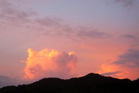 9月1日6時20分小雲朝焼け