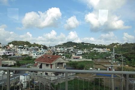 斜面の住宅群