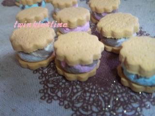 プチアイスサンドクッキー 1-2
