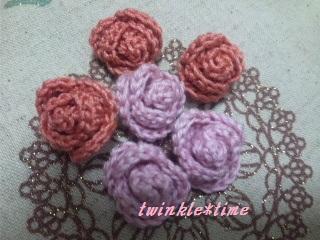 編み物 巻きバラ 1-2