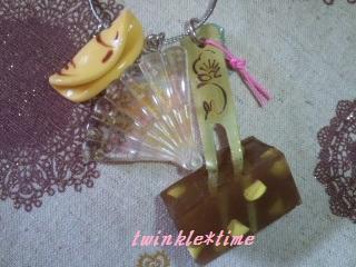 デコセレ 和菓子のバッグチャーム 2-1