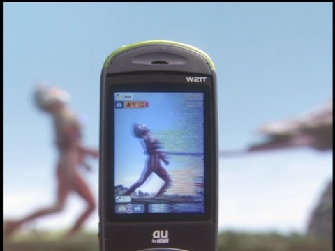 メタシサスは携帯電話のカメラで出現位置を確認できた