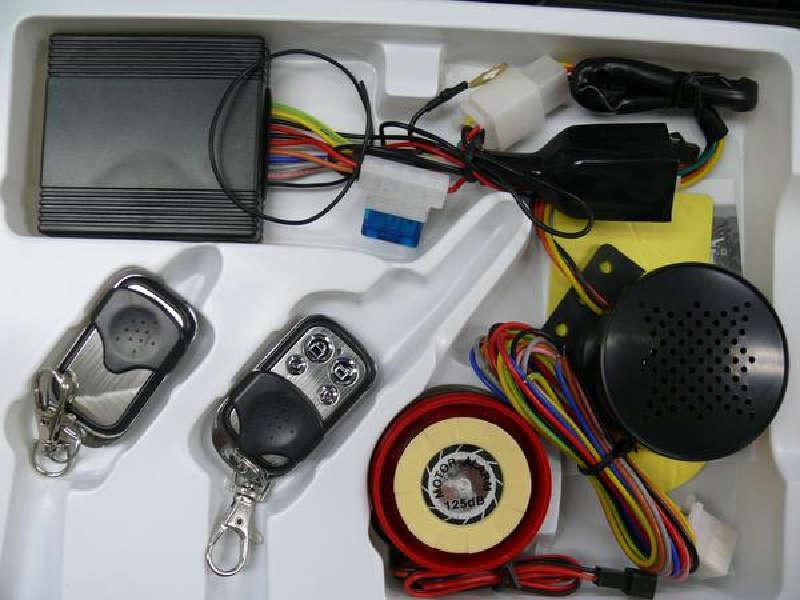 120630 12Vバイク用エンジンスターター機能付きセキュリティアラーム買った10