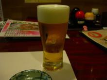 19:29 まずは2人共 ビール 490円×2