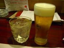 19:53 私~芋焼酎・池の露 420円 、夫~ビール 490円